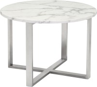 Globe Stone and Stainless Steel End Table from Zuo ...