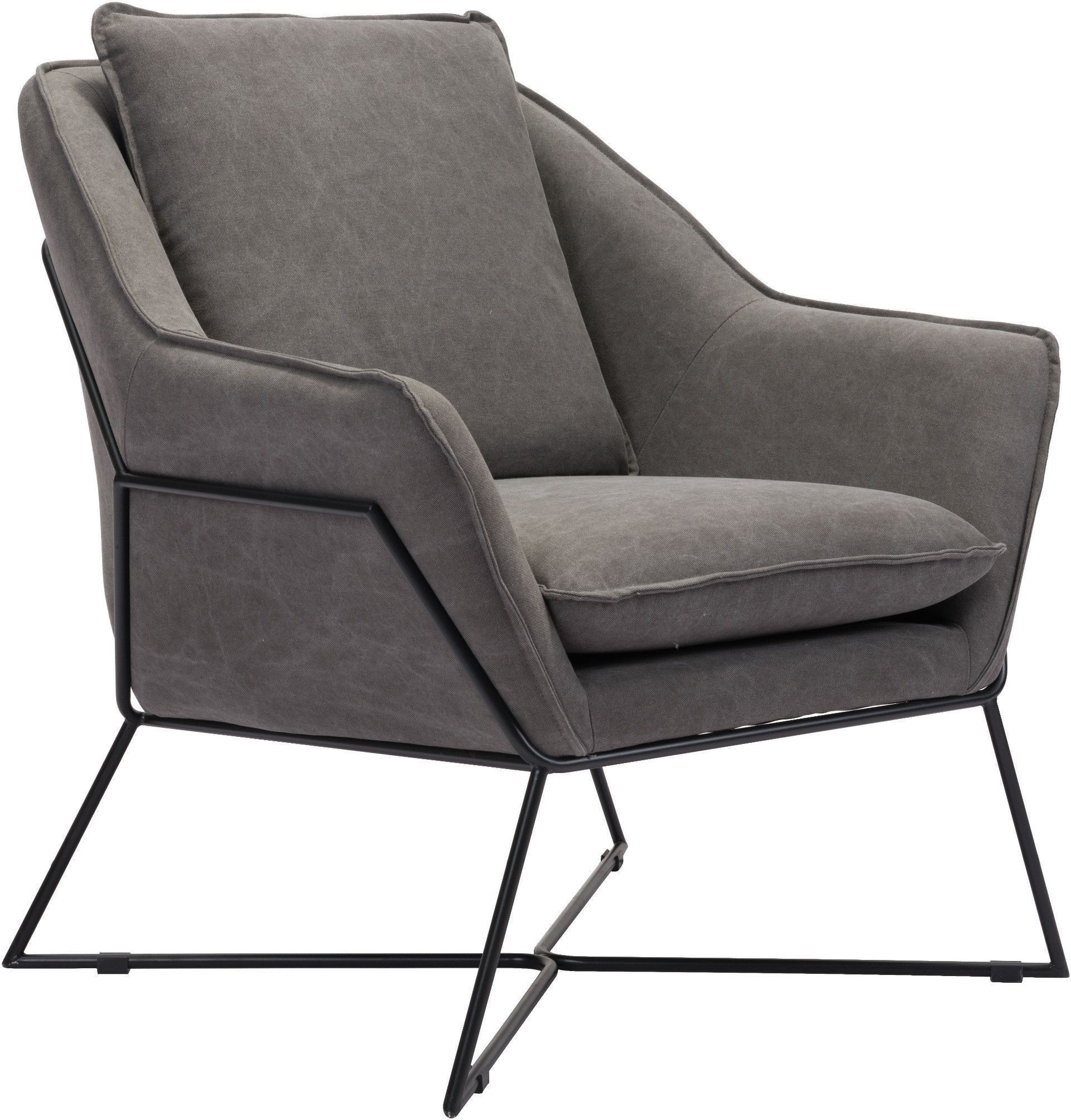 grey lounge chair double bean bag lincoln gray from zuo coleman furniture
