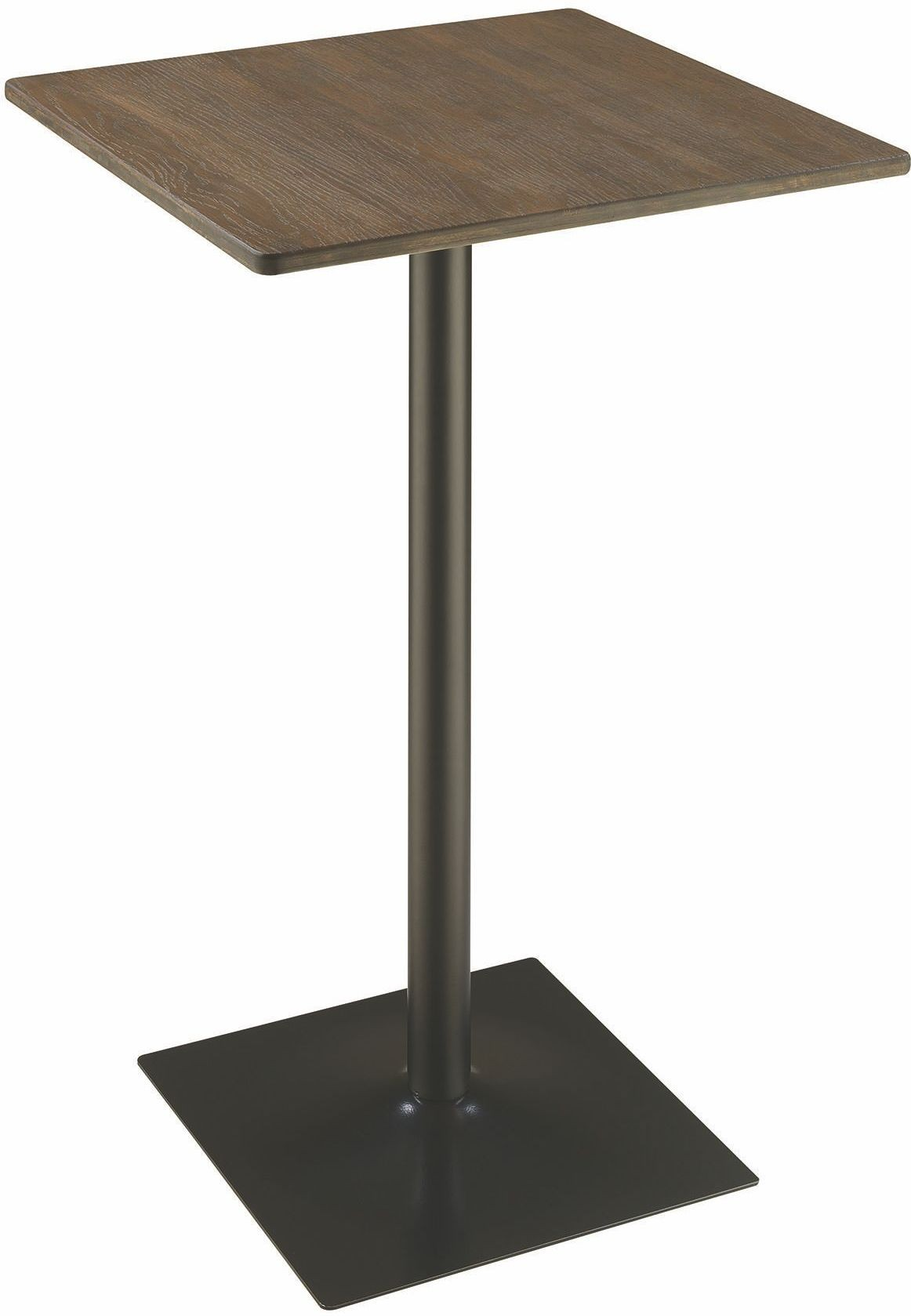 black square pub table and chairs unconventional chair design rec room dark elm matte bar 100730