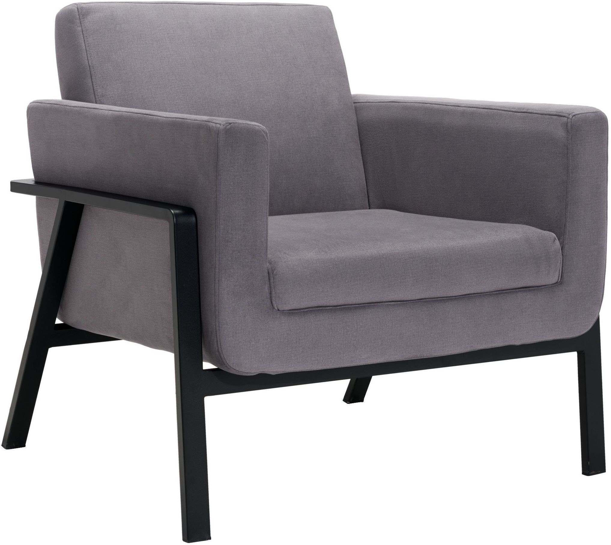 grey lounge chair white wishbone replica homestead gray from zuo coleman furniture
