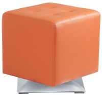Marco Orange Swivel Ottoman, 100894, Sunpan Modern Home