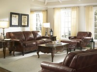 Bentley Rustic Savauge Leather Living Room Set from ...