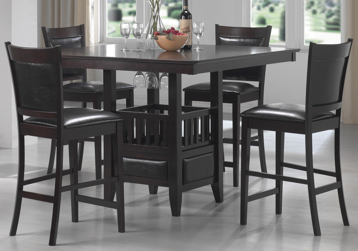 Counter Height Dining Room Chairs Jaden Counter Height Dining Room Set From Coaster