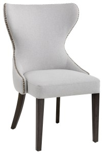 Ariana Light Grey Fabric Dining Chair, 101150, Sunpan ...