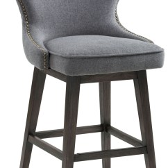 Swivel Bar Chairs Ikea Kivik Chair Covers Ariana Dark Grey Fabric Counter Stool From Sunpan
