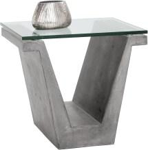 Jasper Grey Concrete End Table Sunpan Coleman Furniture