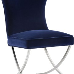 Navy Blue Dining Chairs Set Of 2 Wingback Recliner Uk Rivoli Giotto Upholstered Chair From