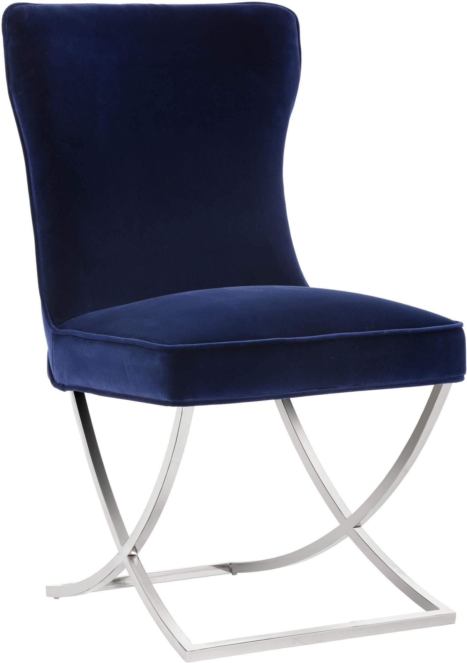 Navy Upholstered Chair Rivoli Giotto Navy Upholstered Dining Chair Set Of 2 From