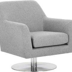 Grey Upholstered Chair Folding Ottoman Doris Monday Swivel From Sunpan