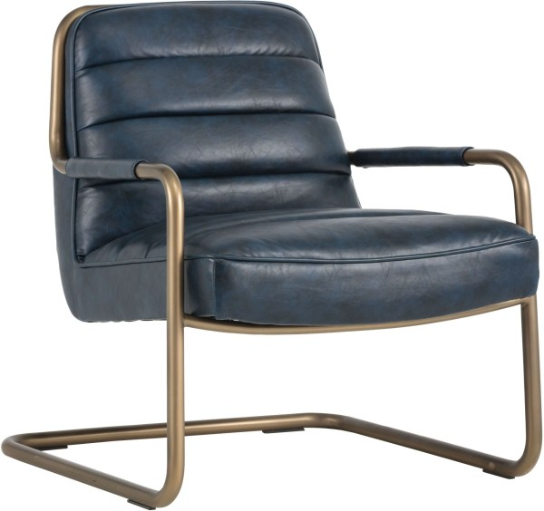Irongate Lincoln Vintage Blue Lounge Chair from Sunpan ...