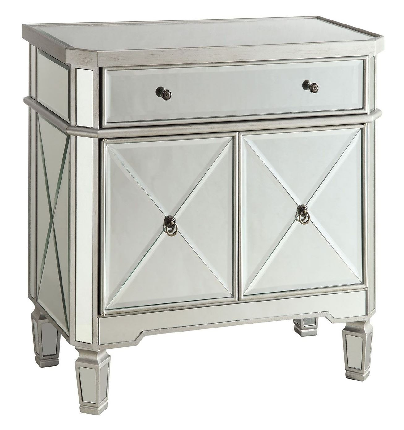 Mirrored Drawer Wine Cabinet from Coaster (102596