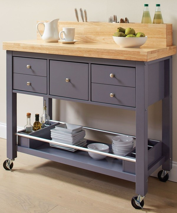 Natural And Grey Kitchen Cart Coaster Coleman Furniture