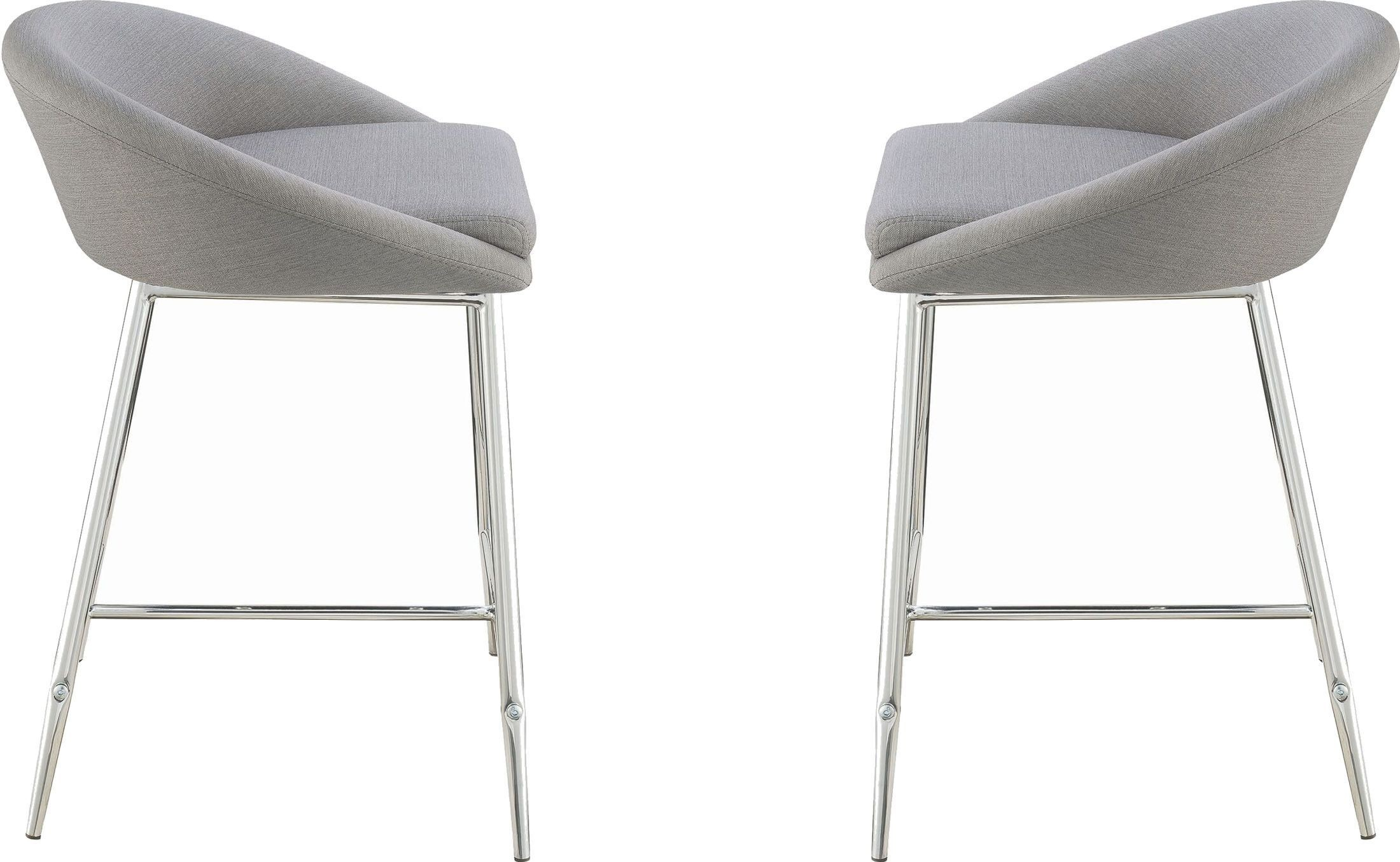 upholstered counter height chair wedding covers hire northern ireland rec room grey stool set of 2