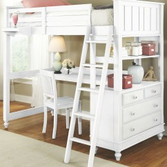 Loft Bed With Desk And Futon Chair Delta Avery Nursery Glider Grey Lake House White Twin From Ne Kids