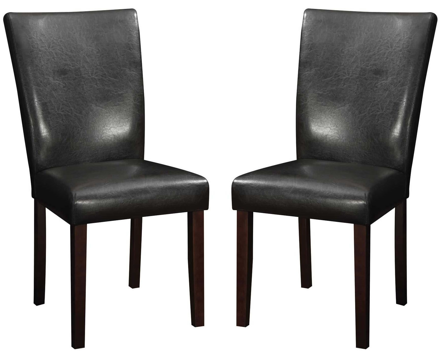 orange parsons chair cover hire lancashire westbrook brown leather dining set of 2 from coaster