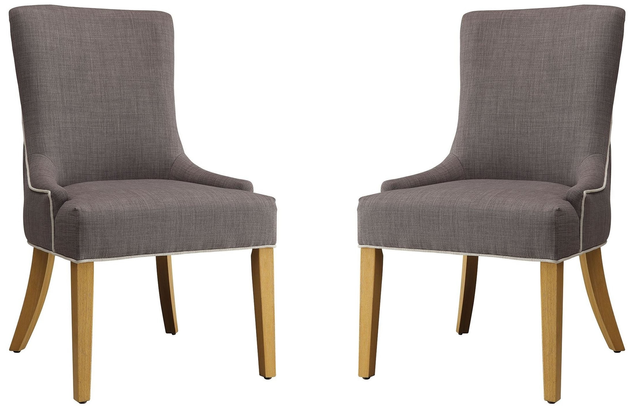 Grey Upholstered Chair Grey And White Upholstered Side Chair Set Of 2 104566