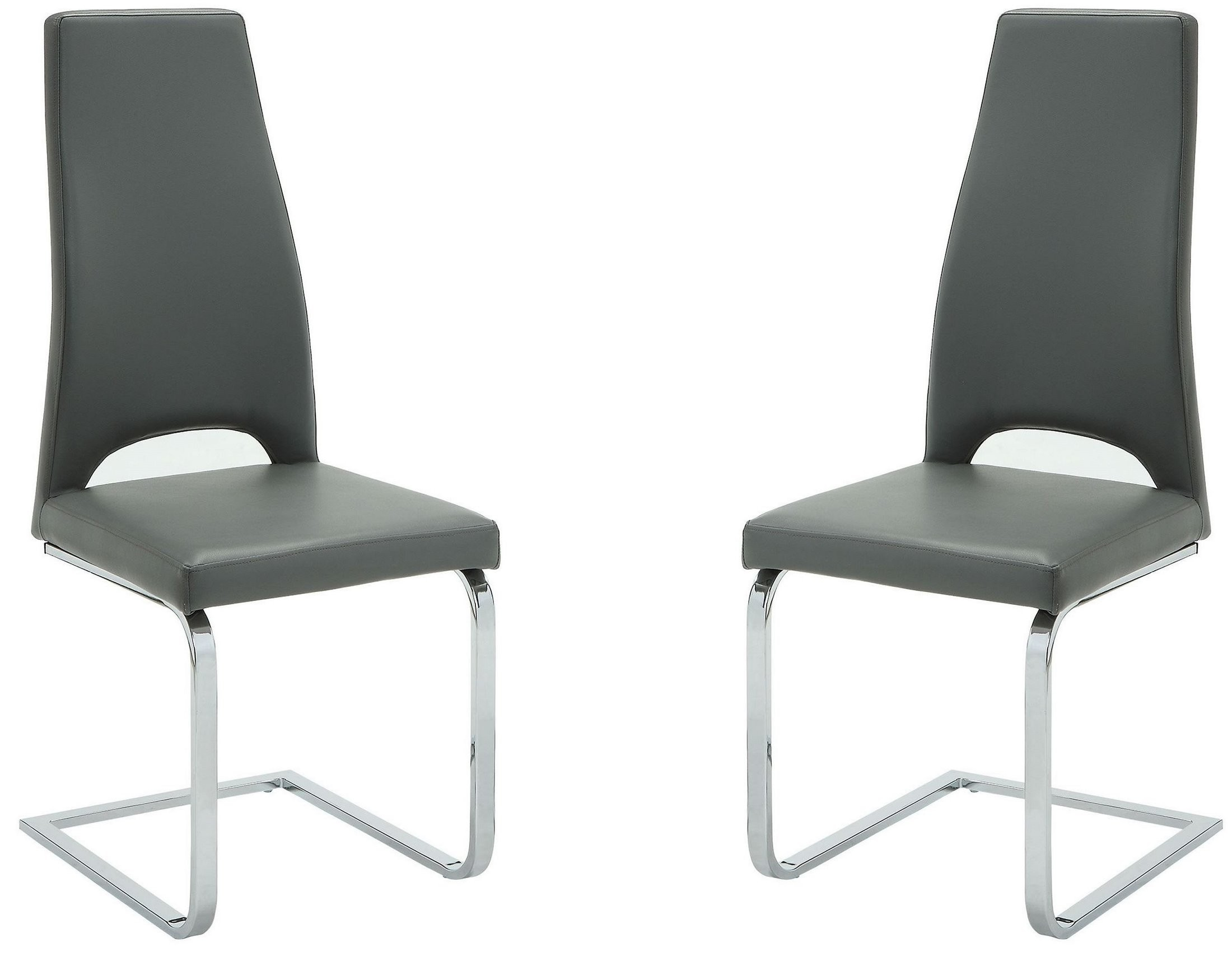 Grey Side Chair Grey And Chrome Side Chair Set Of 2 From Coaster Coleman