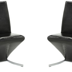 Black Side Chair Barrel Style Cane Back Barzini Set Of 2 From Coaster Coleman