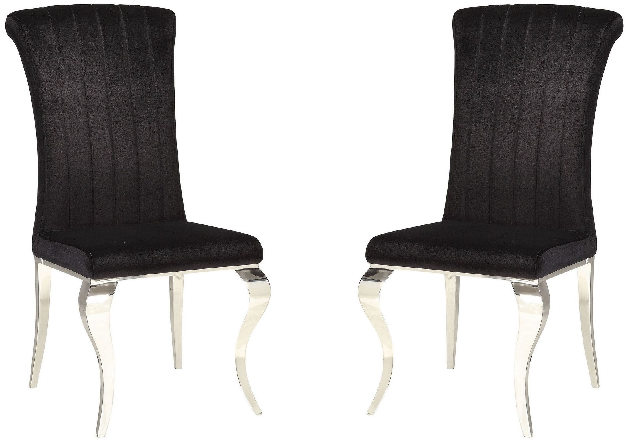 black side chair discount folding chairs carone set of 4 from coaster coleman