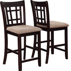 Counter Height Chairs Set Of 2 Indoor Lounge Chair For Two Lavon From Coaster 105279