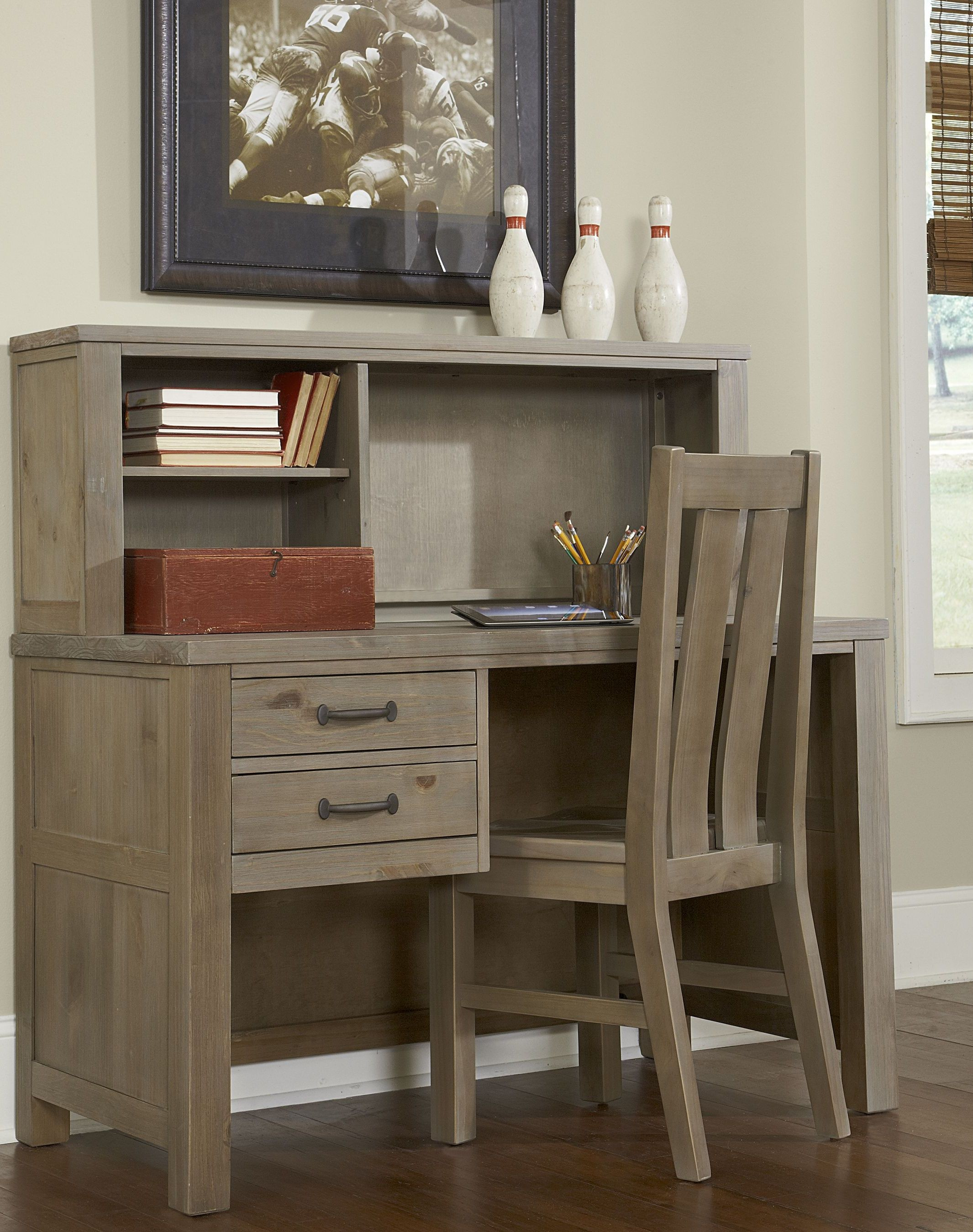 Highlands Driftwood Desk with Hutch And Chair from NE Kids