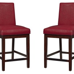 Upholstered Counter Height Chair Peg Perego Rocker High Recall Couture Elegance Red Set