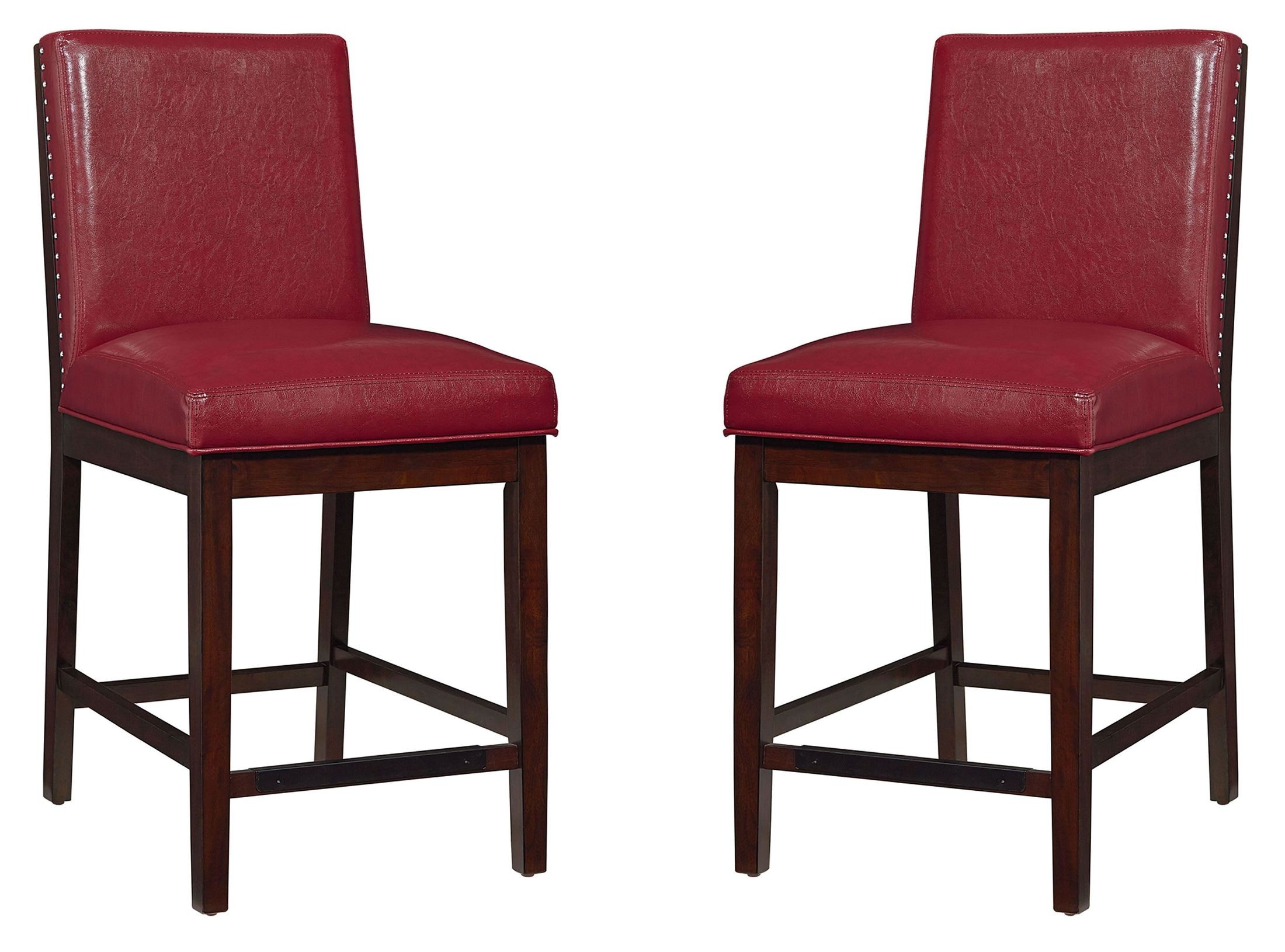 Red Counter Height Chairs Couture Elegance Red Upholstered Counter Height Chair Set