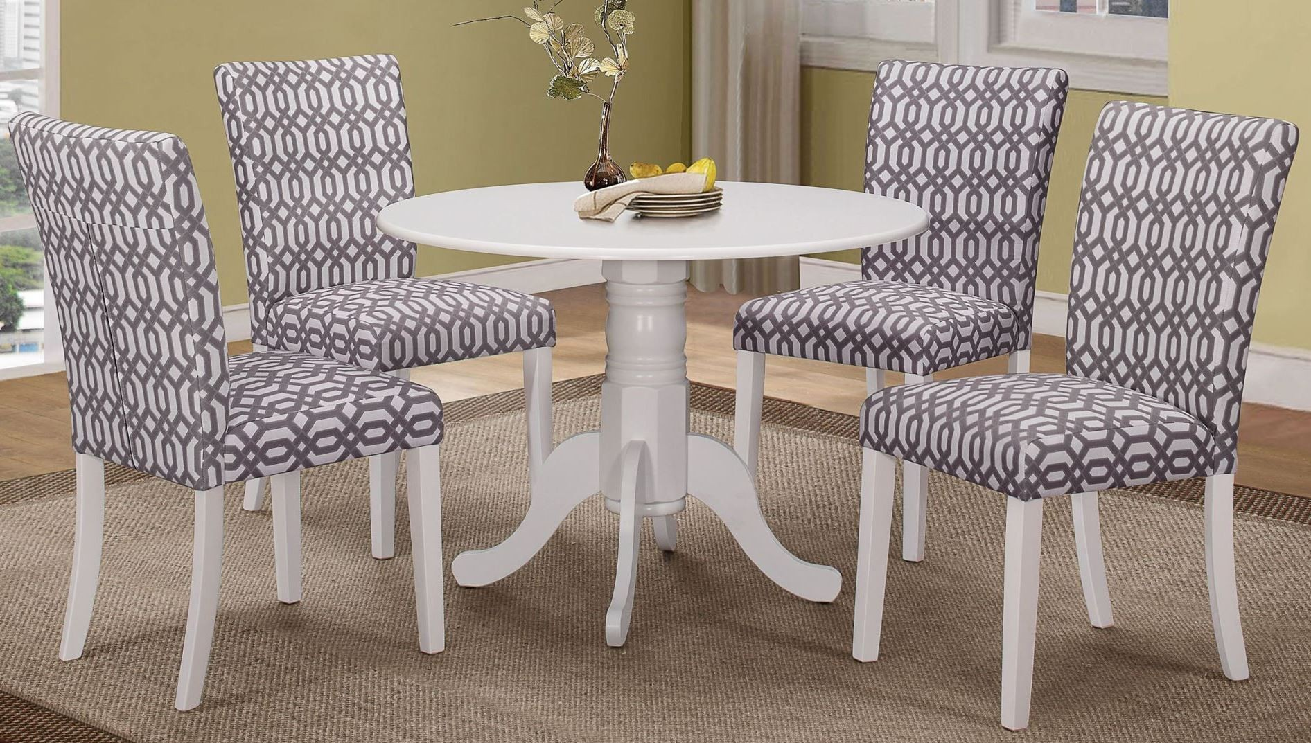 Allston White Round Dining Room Set from Coaster 106641