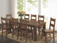 Coleman Rustic Golden Brown Rectangular Dining Room Set ...