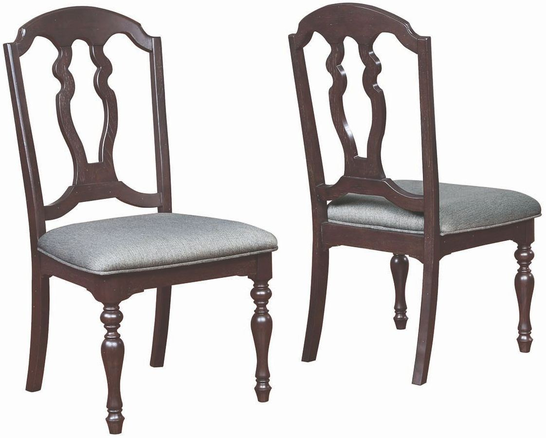Grey Upholstered Chair 107332 Leon Grey Upholstered Side Chair Set Of 2 From