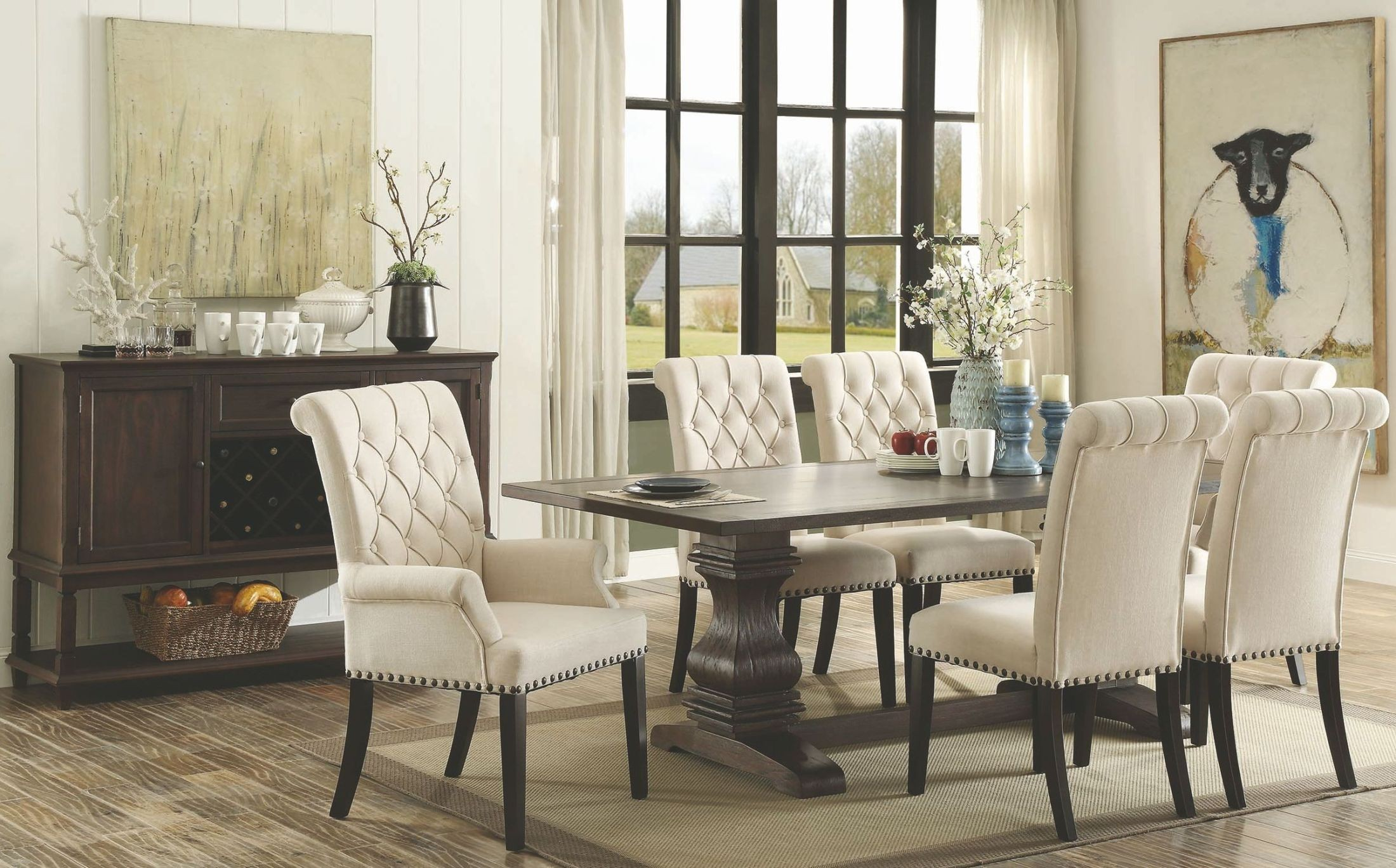 espresso table and chairs dutch design chair uk parkins rustic rectangular dining room set from
