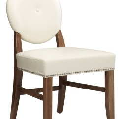 Ivory Leather Office Chair Rei Helinox Beach Florence Dining Rl Set Of 2 11096