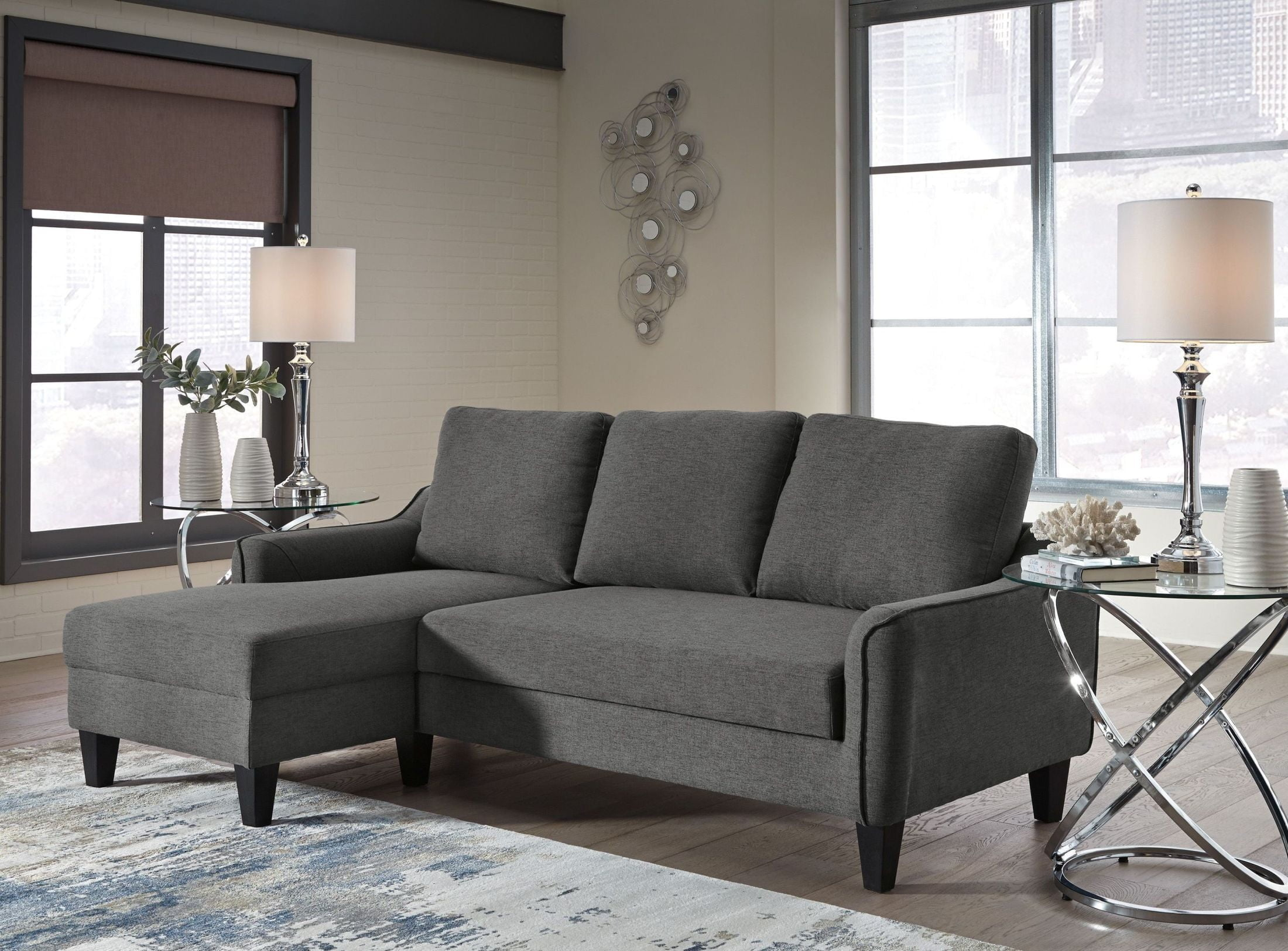 queen sofa chaise sleeper office pics jarreau gray from ashley