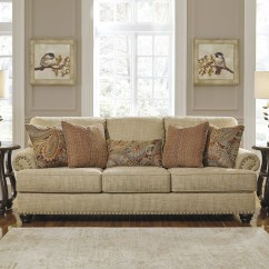 Oatmeal Sofa Tan Leather Chesterfield Candoro From Ashley Coleman Furniture