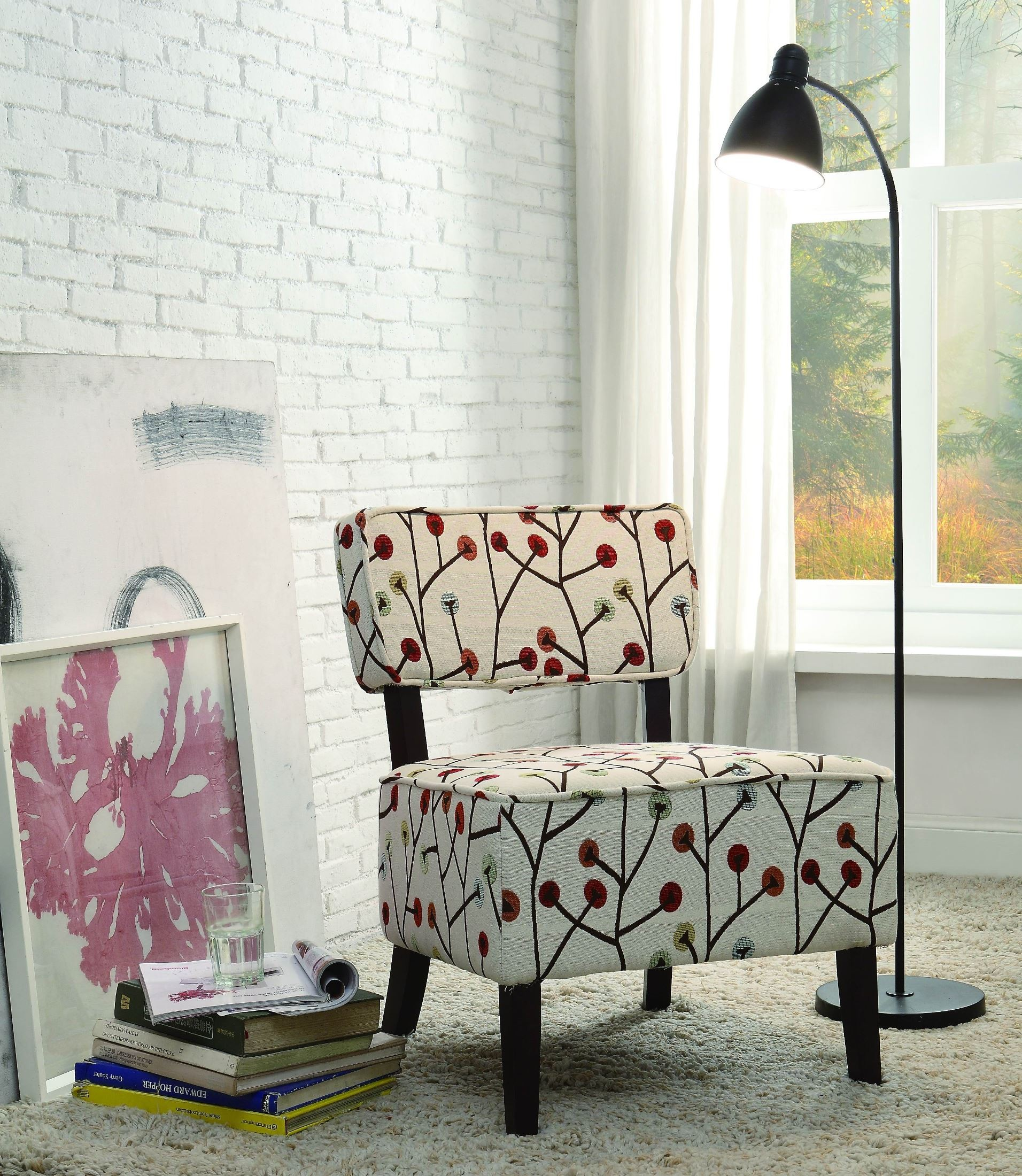 Red And White Accent Chair Orson Red And White Accent Chair From Homelegance 1191f5s