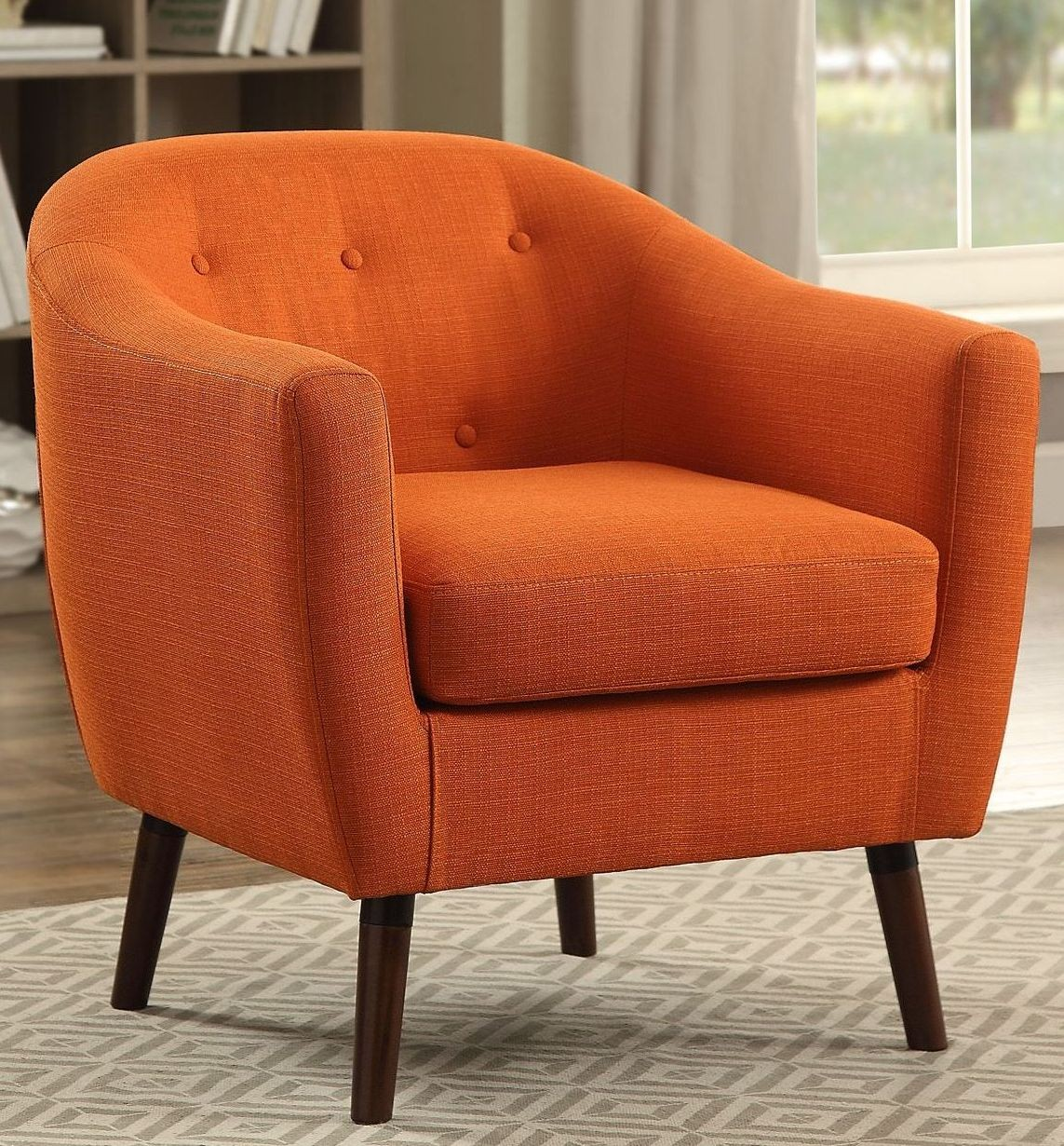 Lucille Orange Accent Chair from Homelegance  Coleman