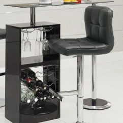 Revolving Chair With Net Shell Side Black Bar Table 120451 From Coaster