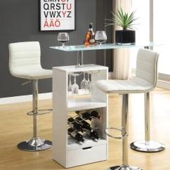 Revolving Chair Bar Stool Herman Miller Alternative White Set 120452 From Coaster