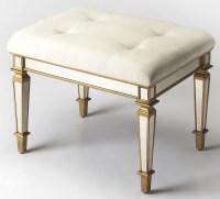 Celeste Mirror & Gold Vanity Stool, 1214353, Butler