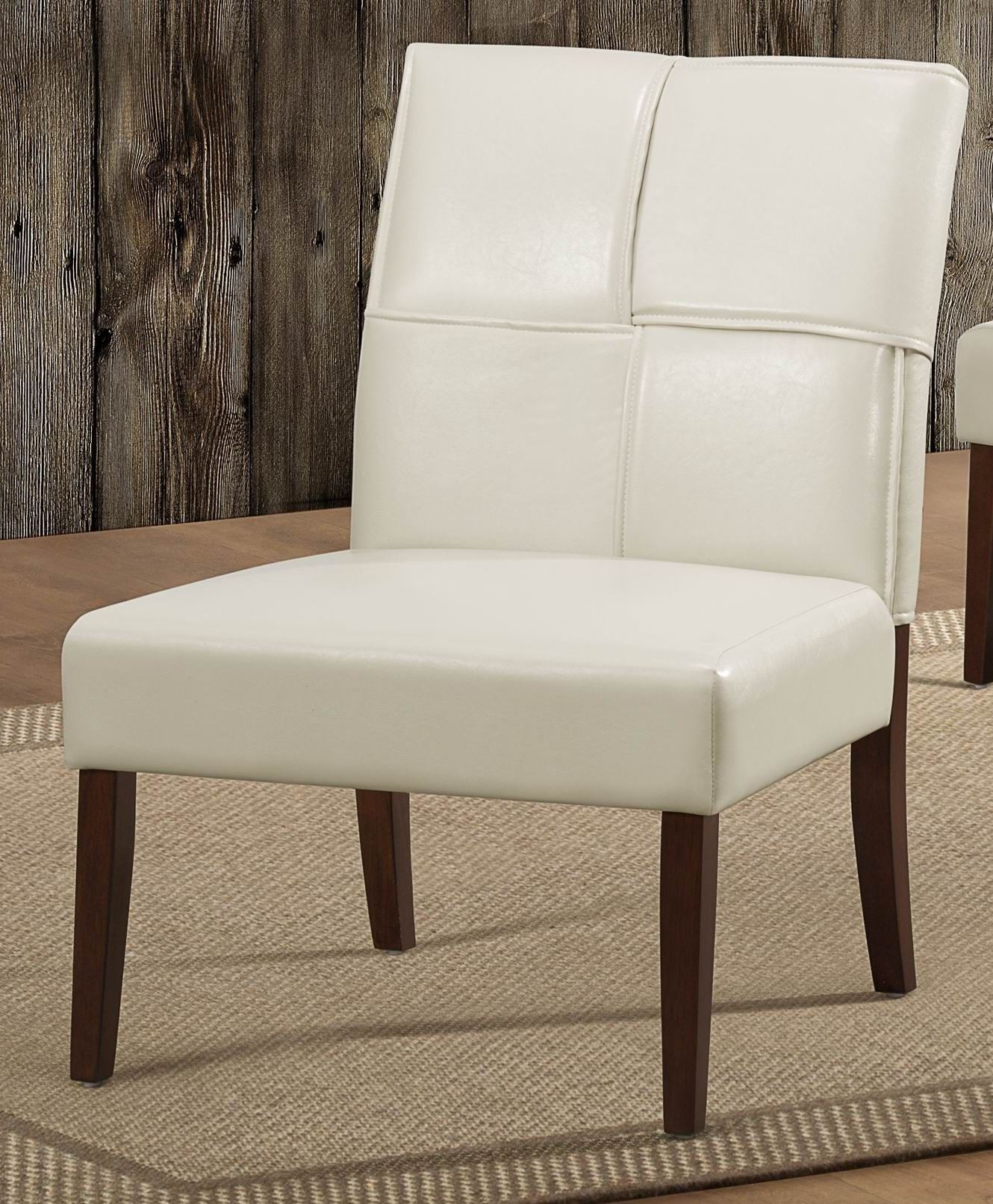 Cream And Brown Accent Chair