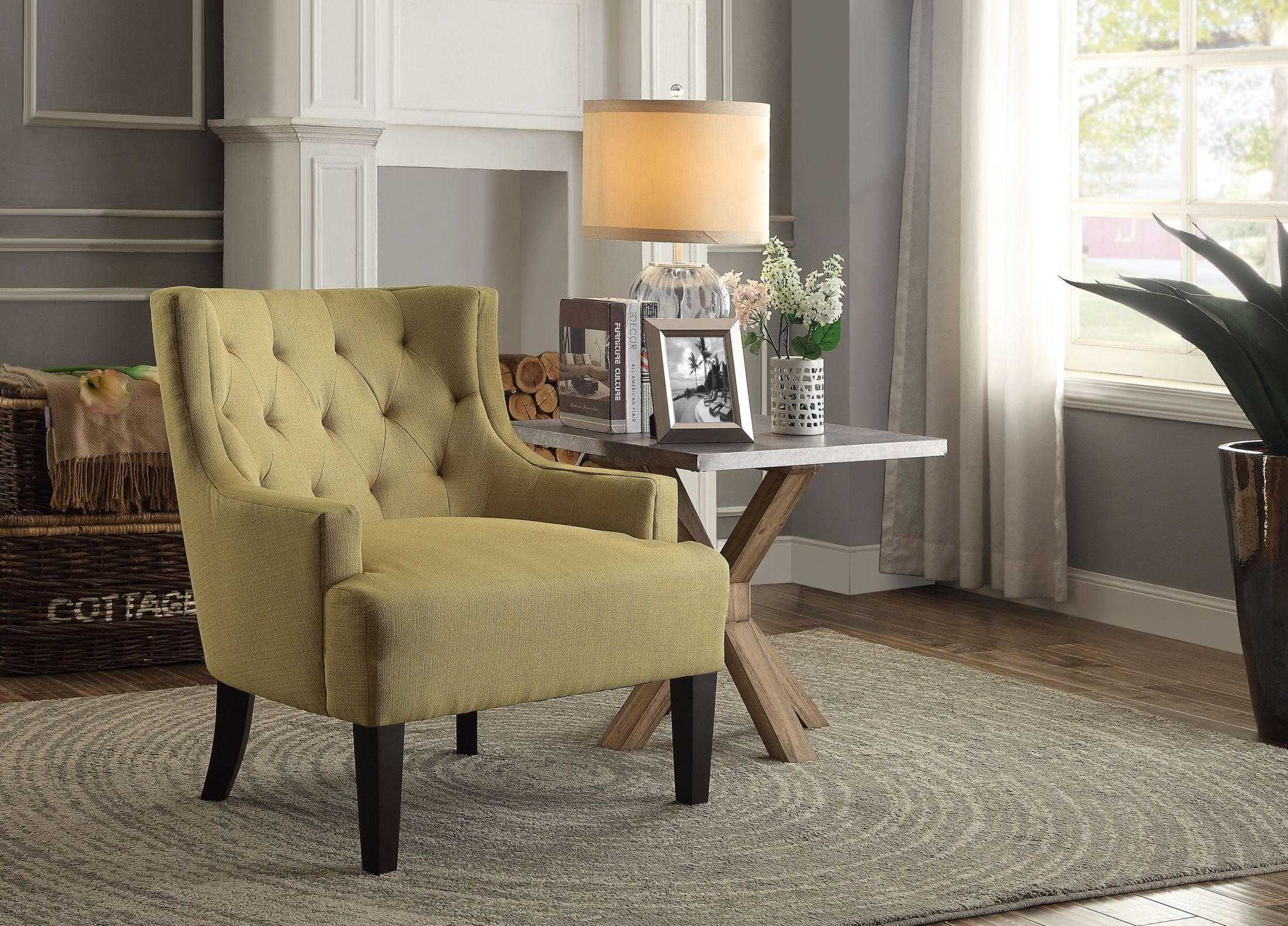 Mustard Accent Chair Dulce Mustard Accent Chair From Homelegance 1233md