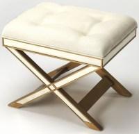 Marlo Mirror & Gold Vanity Stool from Butler   Coleman ...