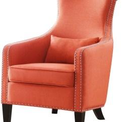 Accent Chair Orange Design Ebay Arles From Homelegance Coleman Furniture