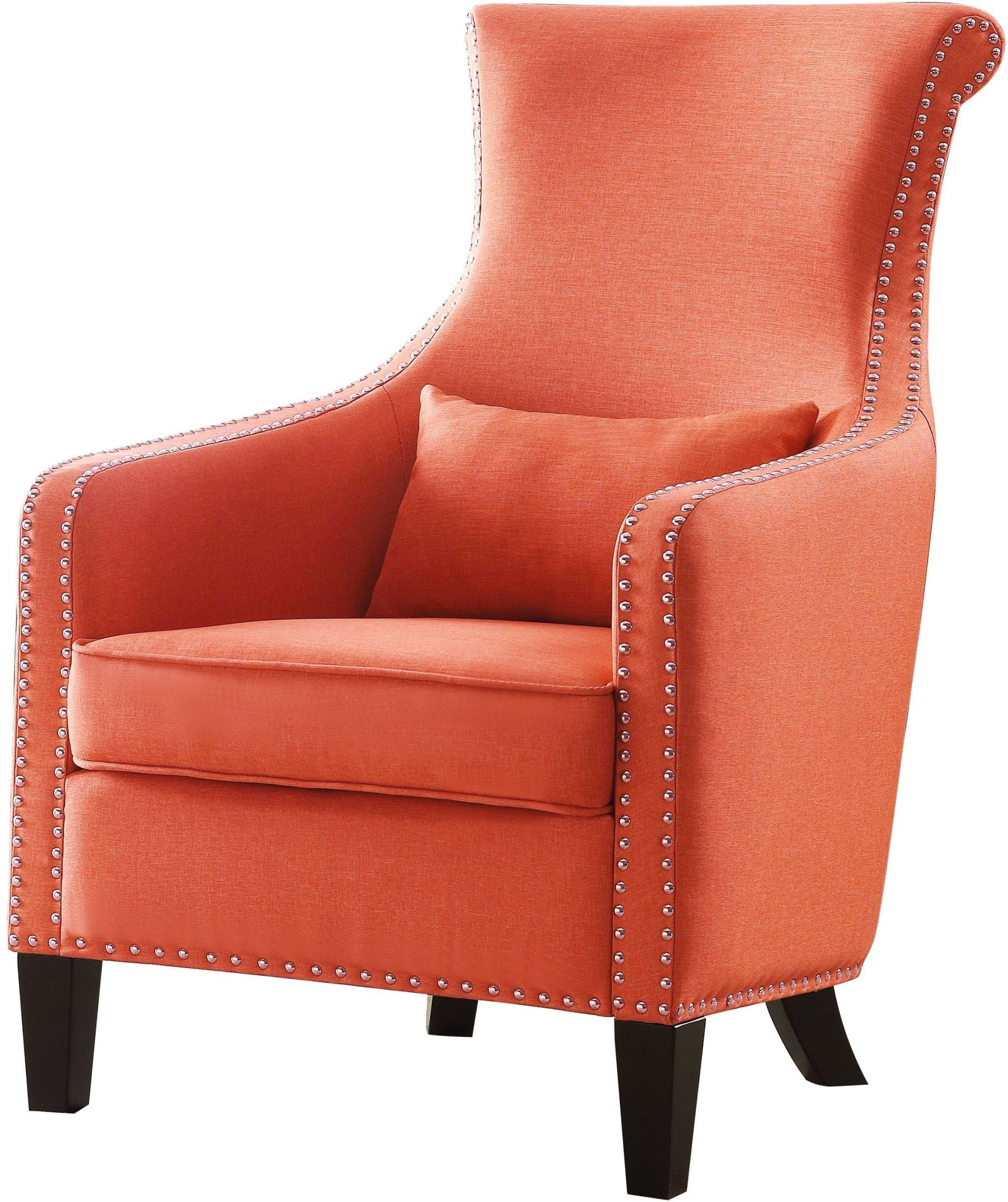 Orange Accent Chairs Arles Orange Accent Chair From Homelegance Coleman Furniture