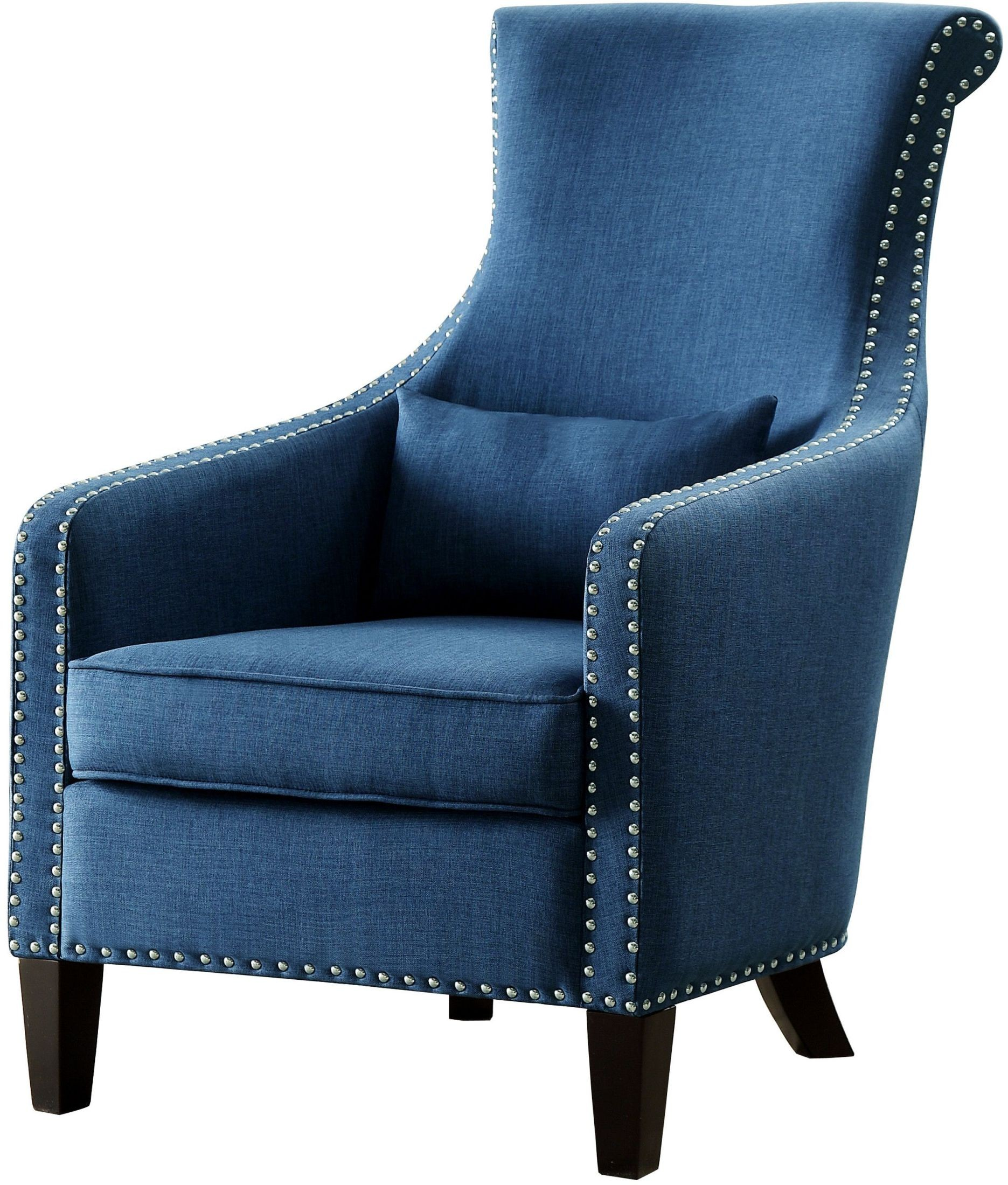 Blue Accent Chair With Arms Arles Blue Accent Chair From Homelegance Coleman Furniture