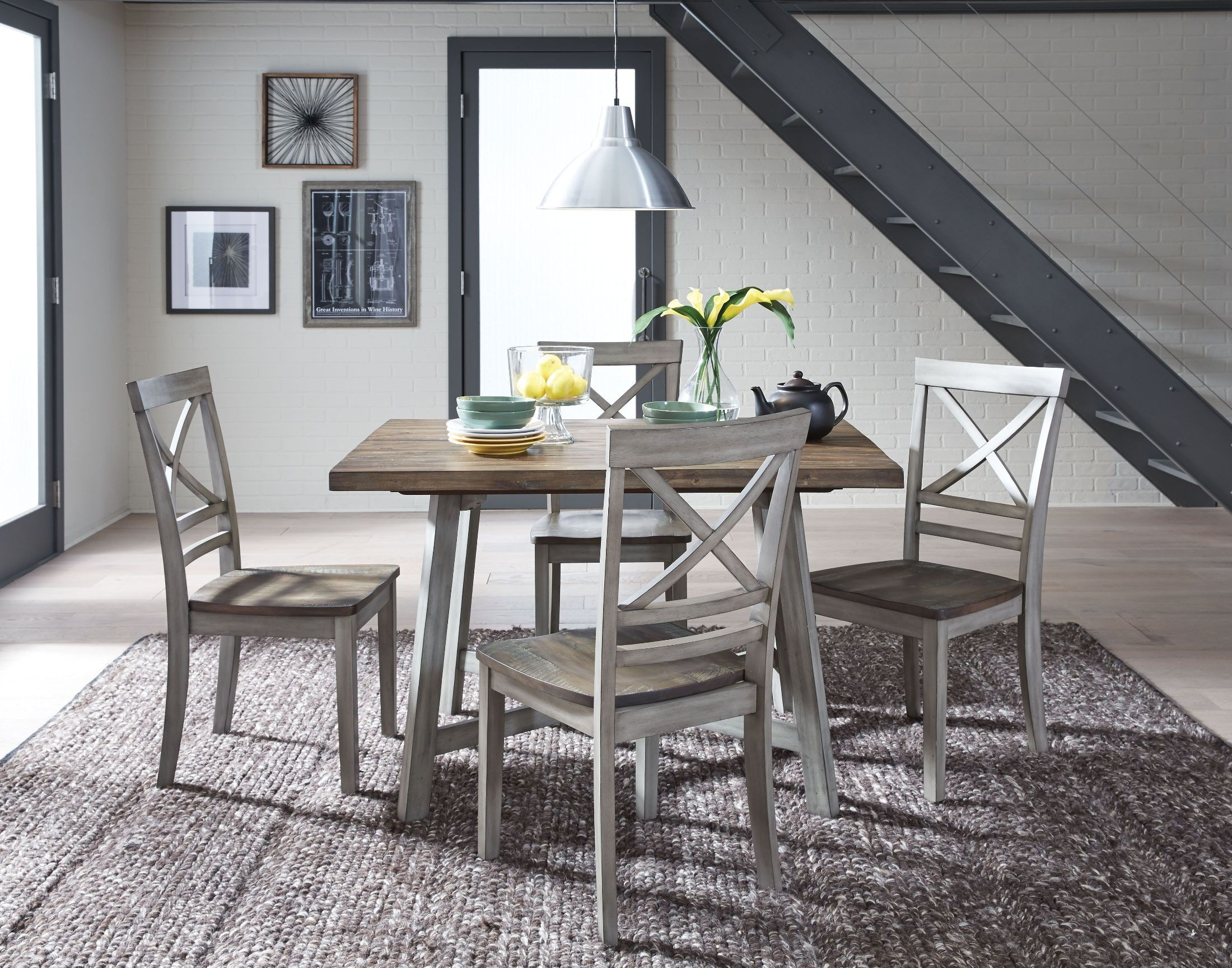 Fairhaven Rustic Grey Dining Table Set from Standard