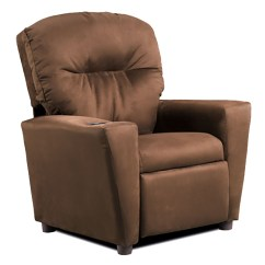 Kids Recliner Chair Pottery Barn Slipcover And A Half Chocolate Quotsuede Quot Kid 39s From Kidz World 1300 1
