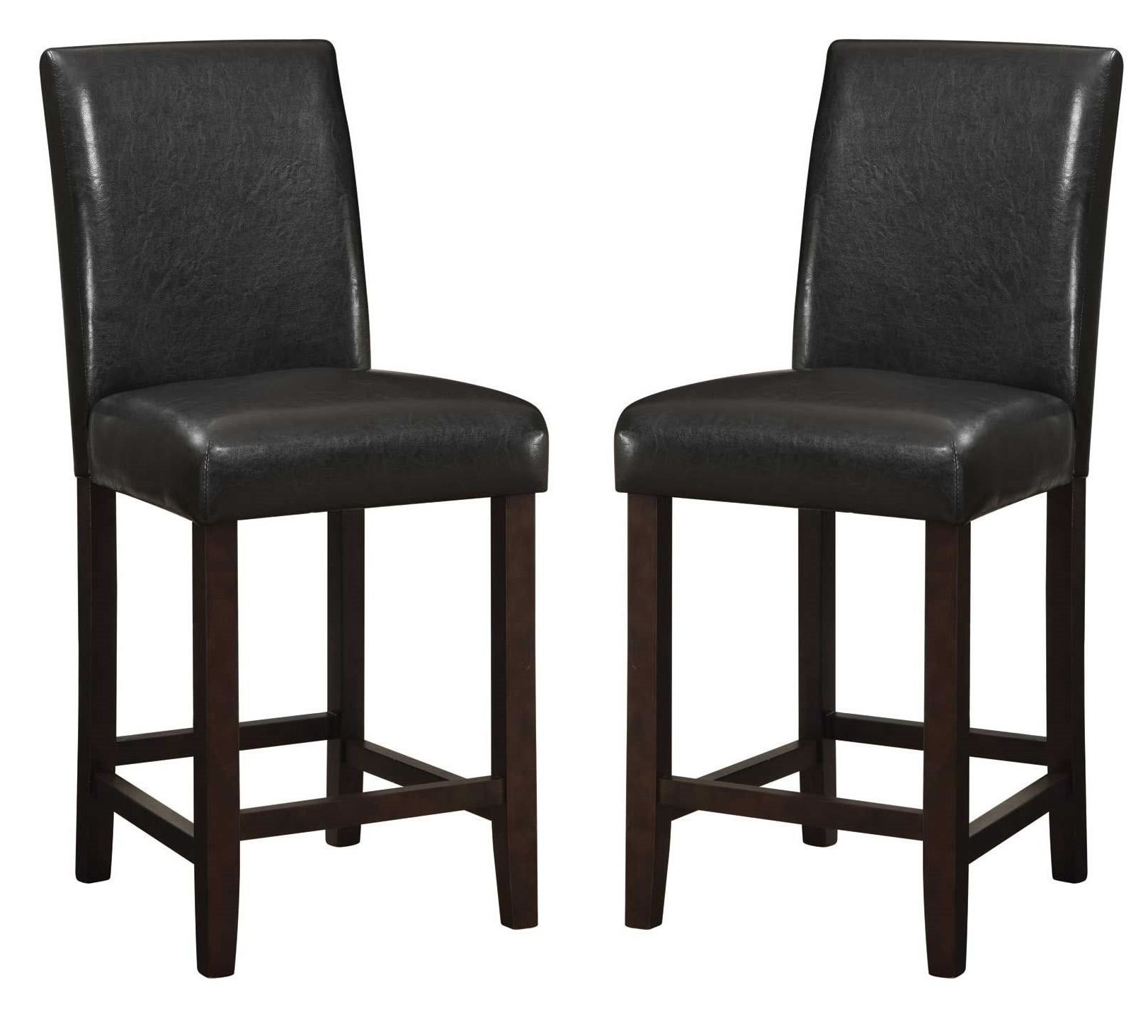 counter height chairs set of 2 small barcelona chair parson 24 quot bar stool from coaster