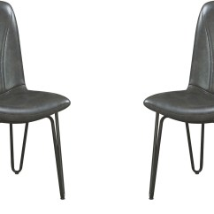 Grey Upholstered Chair Sports Brella Chambler Side Set Of 4 From Coaster