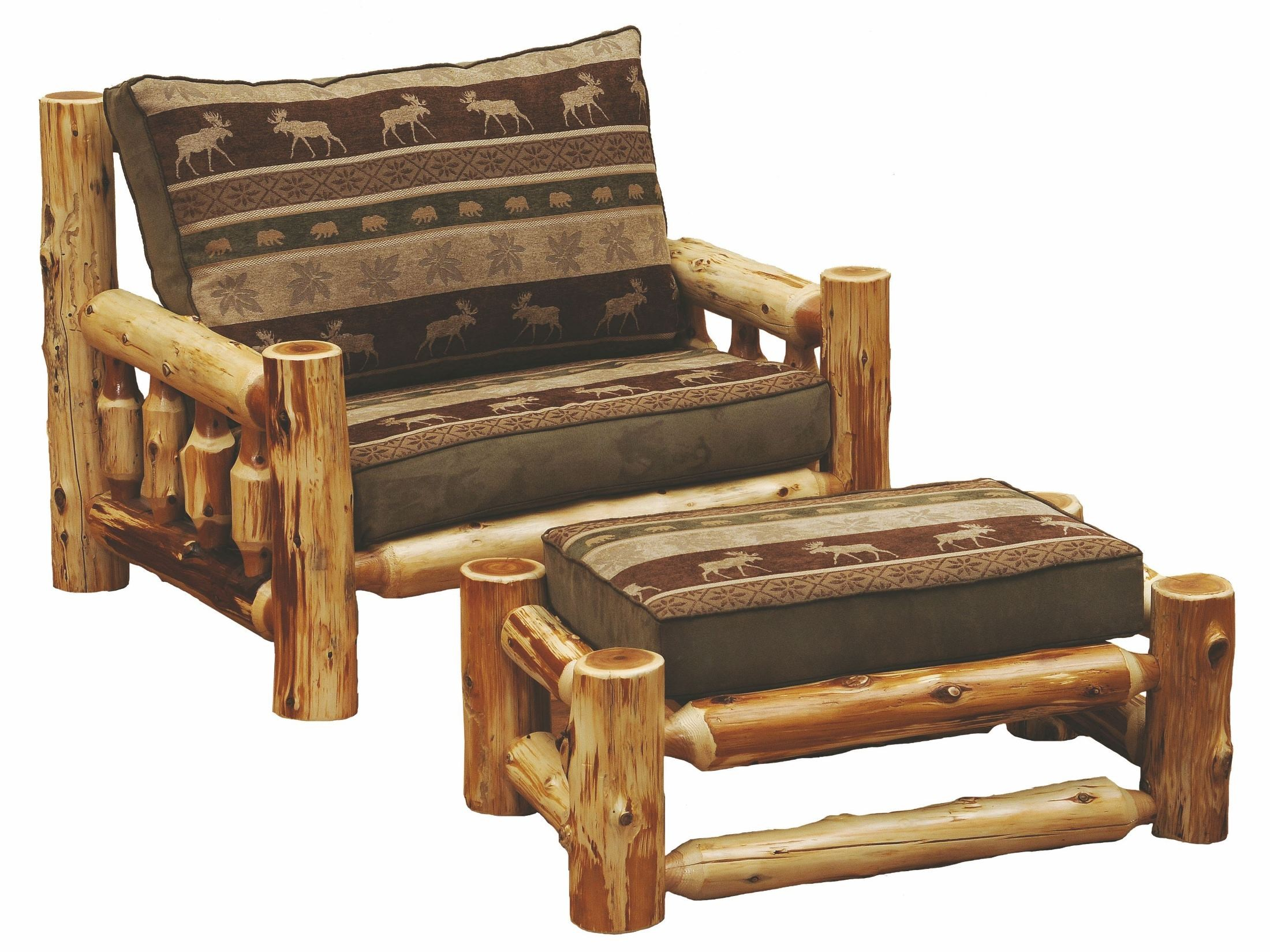one and a half chair motorized wheel chairs cedar log frame from fireside lodge